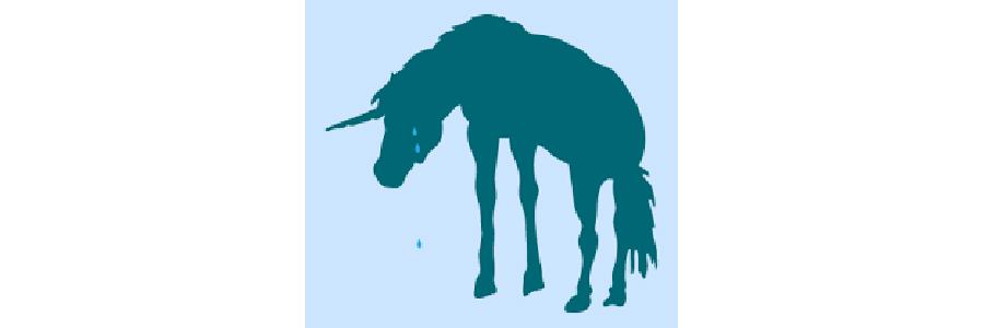 crying unicorn