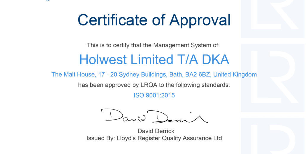 DKA | Quality | Certificate of Approval