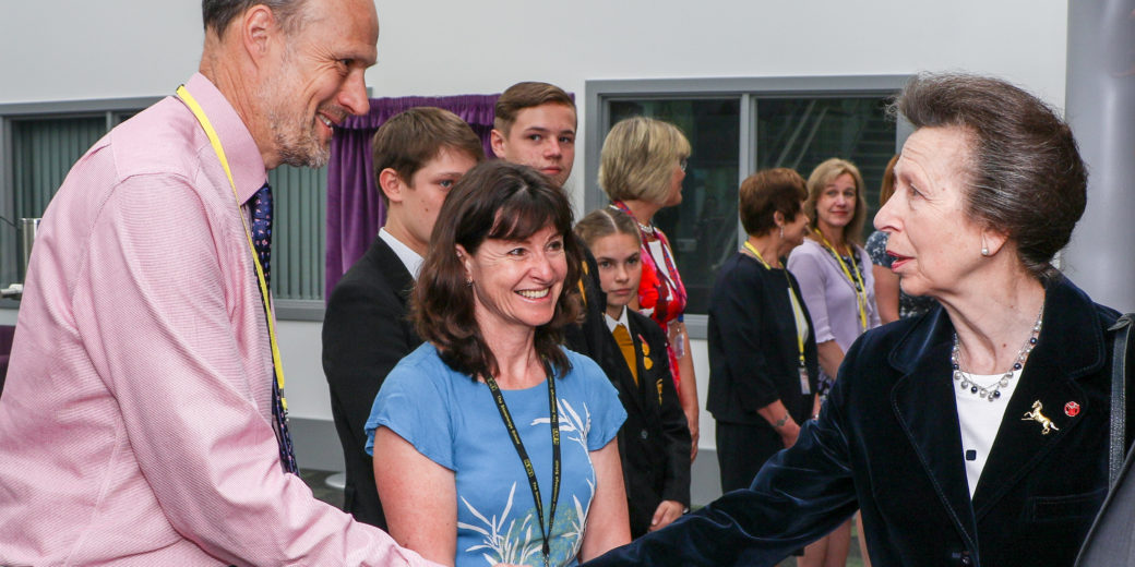 Andy Batty meeting Princess Anne